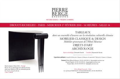 Tableaux modernes - Design - Mobilier - Objets d'art Non cataloguée