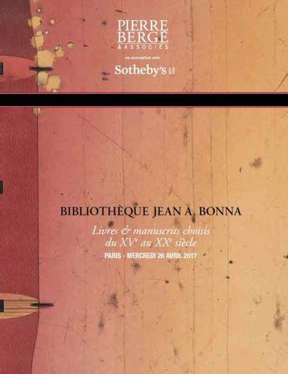 Bibliothèque Jean A. Bonna - Livres & manuscrits choisis du XVe au XXe siècle