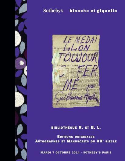 Bibliothèque R. ET B. L. - Autographes, manuscrits et photographies du XXe siècle