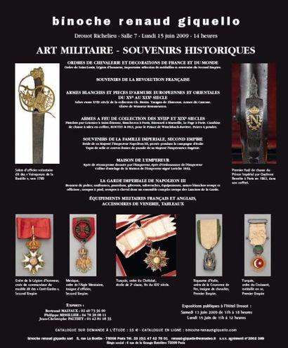 ART MILITAIRE - SOUVENIRS HISTORIQUES