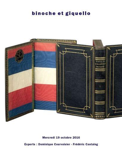 BIBLIOTHÈQUE D'UN AMATEUR, livres anciens en maroquin - Autographes et manuscrits
