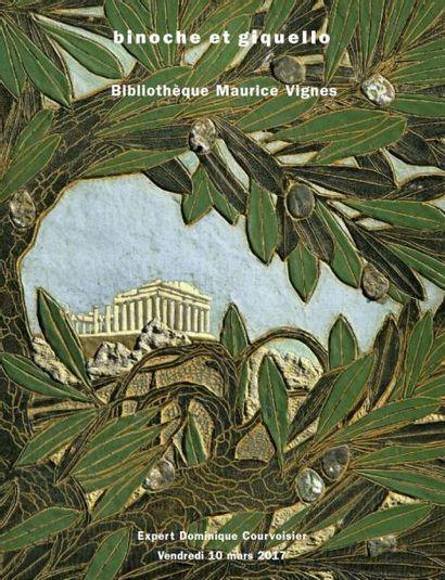 Bibliothèque Maurice Vignes : livres anciens et modernes, économie politique