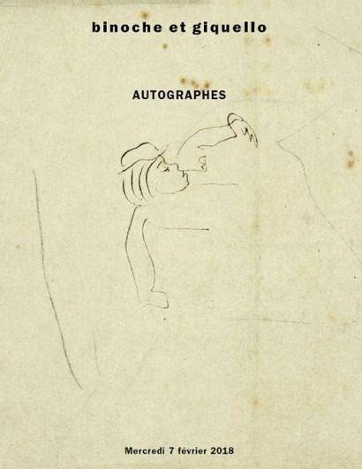 AUTOGRAPHES, MANUSCRITS DU XVIIIe au XXe siècle