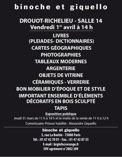 Livres, Mobilier et Objets d'Art, Tableaux...