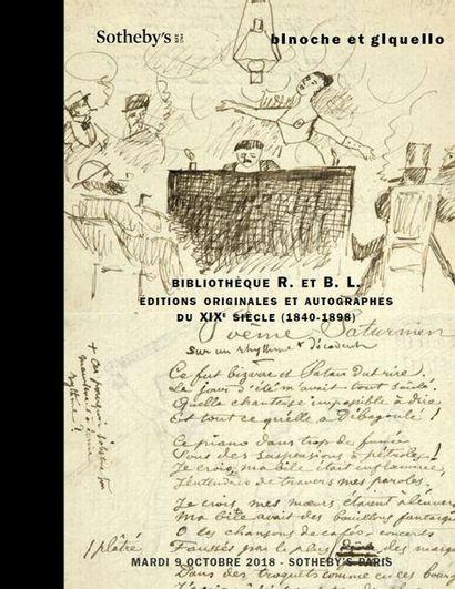 BIBLIOTHÈQUE R. et B. L., éditions originales du XIX° siècle (1840-1890) en association avec SOTHEBY'S