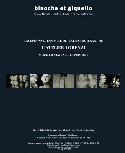 EXCEPTIONNEL ENSEMBLE DE PLATRES PROVENANT DE L'ATELIER LORENZI