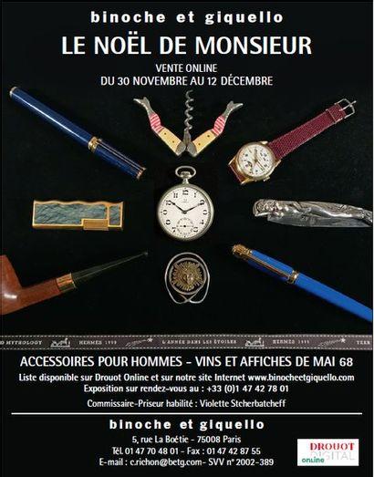 Le Noël de Monsieur - vins et alcools, montres, briquets, couteaux de collection, accessoires de fumeurs
