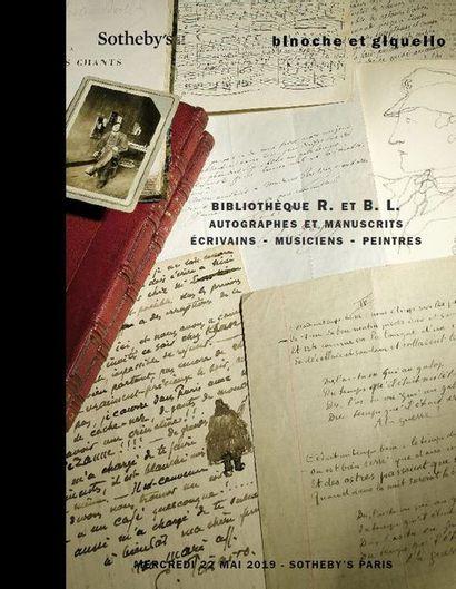 BIBLIOTHÈQUE R. ET B. L. : AUTOGRAPHES ET MANUSCRITS XIXe ET XXe SIÈCLES - ÉCRIVAINS - MUSICIENS - PEINTRES         - En association avec SOTHEBY's