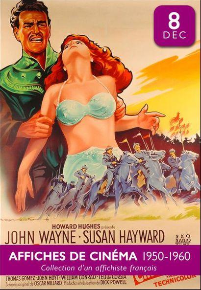 Affiches de cinéma 1950-60 : la collection d'un affichiste français