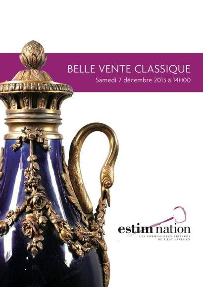 BELLE VENTE CLASSIQUE - Mobilier objets d'art & Extrême-Orient