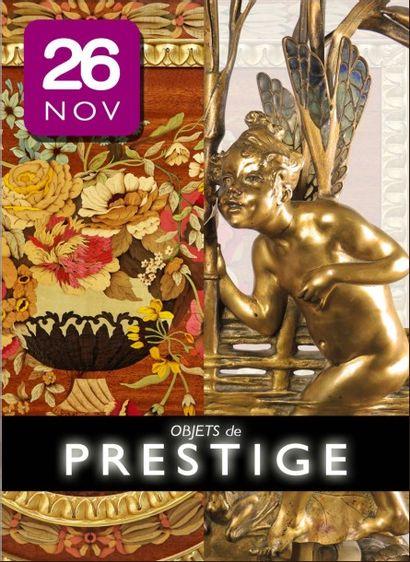 Objets de prestige : mobilier d'apparat, bijoux, objets d'art, tableaux, art nouveau, art déco, tapisseries