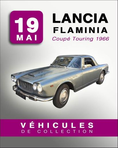 AUTOMOBILE DE COLLECTION : LANCIA Flaminia Coupé Touring 1966