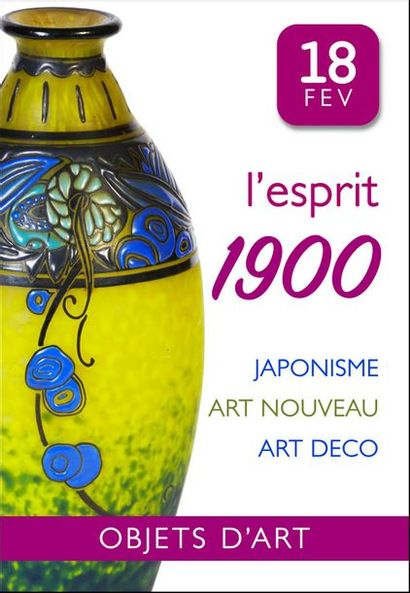 L'ESPRIT 1900 : Objets d'art et de vitrine ART NOUVEAU, ART DECO...