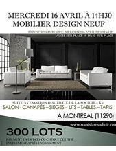 MOBILIER DESIGN NEUF (300 lots)