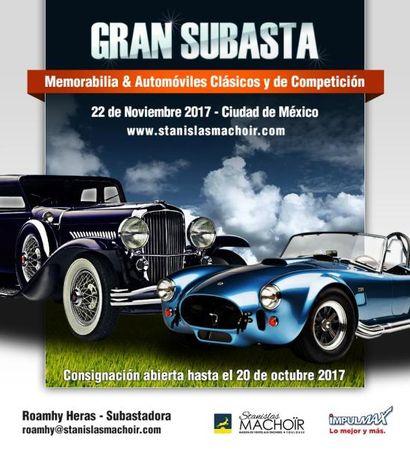 SUBASTA DE MEMORABILIA Y COCHES CLASICOS Y COMPETICION EN COLABORACION CON J.P. AUCTIONS MEXICO