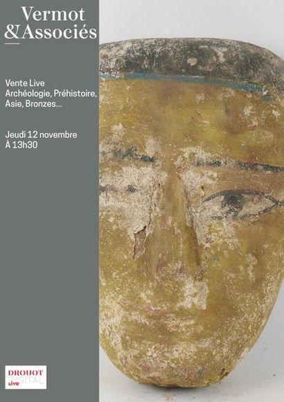 [VENTE MAINTENUE] VENTE LIVE A HUIS CLOS - Archéologie Méditérannéenne, Asie, Préhistoire, collection de bronze...