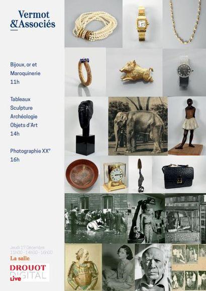 Bijoux, Tableaux Anciens, Modernes et Contemporains, Archéologies, Objets  d'Art, Guitares, Photographie XX°