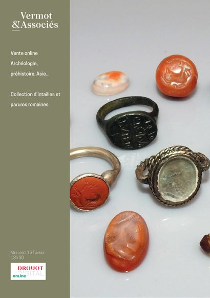 Online sale of Archaeology, Asia, Bronzes, Curiosities, intaglio and rings Collection
