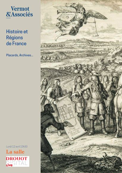 HISTOIRE ET REGIONS DE FRANCE - MANUSCRITS, ARCHIVES, PLACARDS