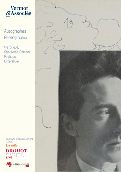 AUTOGRAPHES, PHOTOGRAPHIE : Histoire, Spectacle, Politique, Beaux Arts, Cinéma, Littérature etc.....