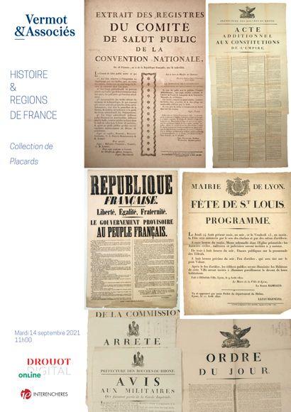 HISTOIRE ET REGIONS DE FRANCE - COLLECTION DE PLACARDS