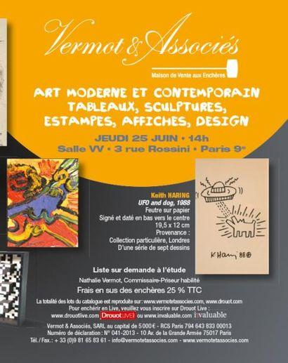 ART MODERNE ET CONTEMPORAIN TABLEAUX, SCULPTURES, ESTAMPES, AFFICHES, DESIGN