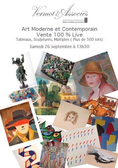 ART MODERNE ET CONTEMPORAIN: Tableaux, Sculptures et Multiples (+ de 500 lots)