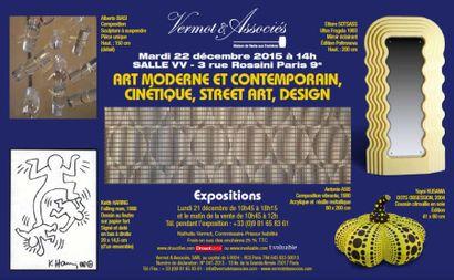 ART MODERNE ET CONTEMPORAIN TABLEAUX, SCULPTURES, PHOTOS, MULTIPLES, ART CINETIQUE, GRAFFITI, DESIGN