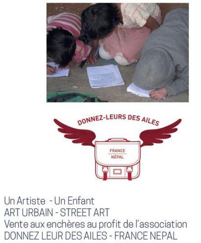 Vente caritative au profit de l'association DONNEZ LEUR DES AILES - FRANCE NEPAL