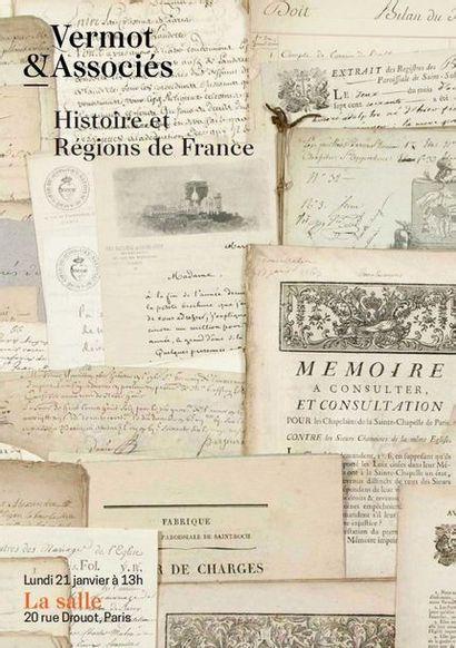 Histoire et Régions de France: Livres, Manuscrits, Autographes et Archives de l'Ancien Régime