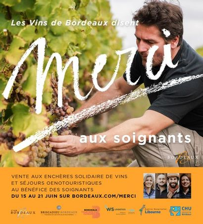 Bordeaux Wines say THANK YOU to caregivers