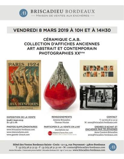 Tableaux contemporains - Collection céramiques d'Art de Bordeaux (C.A.B) - Photographies XXème et Affiches anciennes