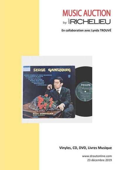DISQUES VINYLES, CD, LIVRES ET DVD DE MUSIQUE - en collaboration avec l'étude Lynda Trouvé