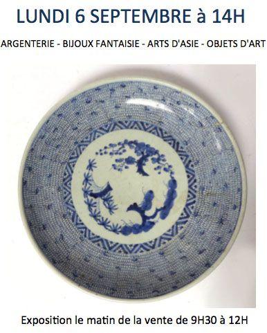 VENTE CLASSIQUE - CRISTAL - ARGENTERIE - ARTS D'ASIE - CERAMIQUE - PIECES ENCADREES