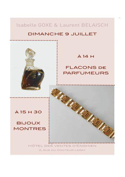 FLACONS de PARFUM - BIJOUX ANCIENS et MODERNES - ORFEVRERIE