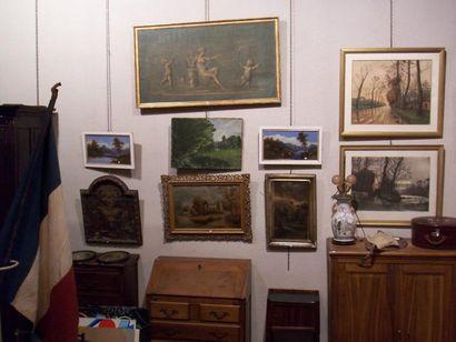 Meubles et objets d'art, mannettes, tableaux...