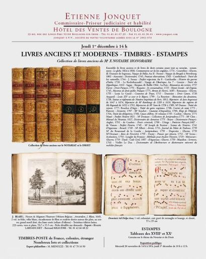 LIVRES ANCIENS ET MODERNES - TIMBRES - ESTAMPES...