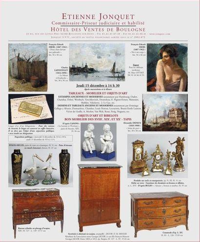 Meubles, Tableaux et objets d'art