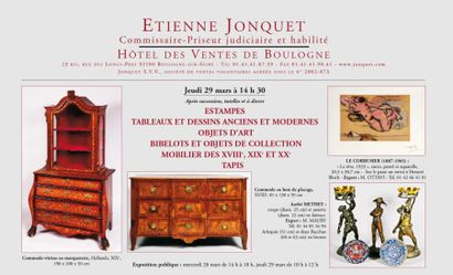 Tableaux, meubles et objets d'art...