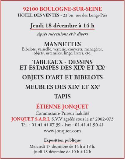 Manette - Tableaux - Meubles - objets d'art