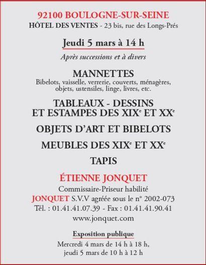 Meubles, tableaux, bibelots