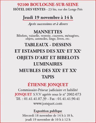 Manettes - Tableaux, Meubles et objets d'art