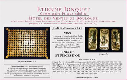 Vins - Lingots et pièces d'or