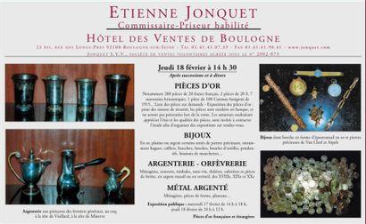Pièces d'or - Bijoux - Argenterie - Orfèvrerie - Métal argenté