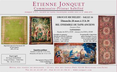 BEL ENSEMBLE DE TAPIS ANCIENS - TAPISSERIES