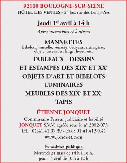 Manettes - Tableaux - Meubles et objets d'art