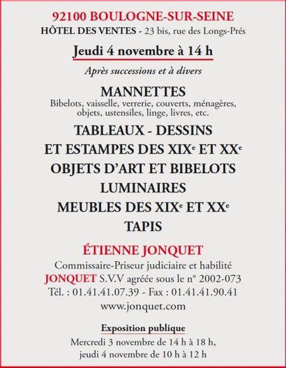Meubles, Tableaux et bibelots