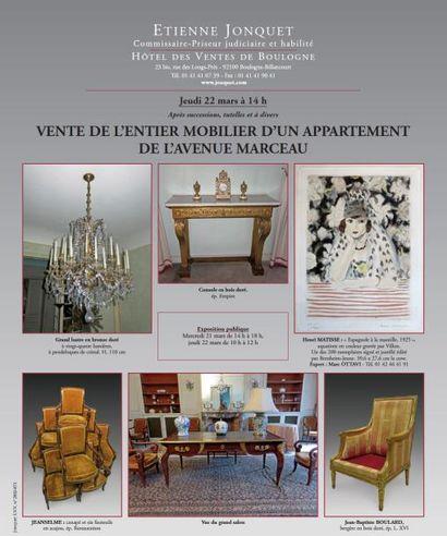 MOBILIER TABLEAUX OBJETS D'ART
