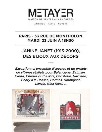 JANINE JANET (1913-2000), DES BIJOUX AUX DÉCORS, EN NOCTURNE