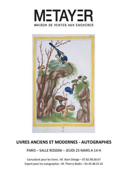 Livres anciens et modernes, autographes
